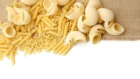 Assortment of pasta Stock Photos