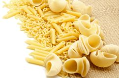 Assortment of pasta Stock Photo