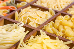 Assortment of pasta Royalty Free Stock Photo