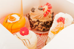 Assortment pastry in box Royalty Free Stock Photography