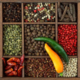 Assortment of peppercorns Stock Image
