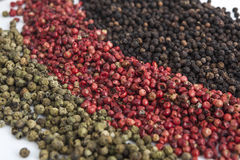 Assortment of peppercorns Stock Photography