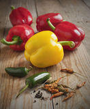 Assortment of peppers Stock Image