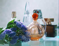 Assortment of perfume bottles Royalty Free Stock Images