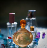 Assortment of perfume bottles Royalty Free Stock Photos