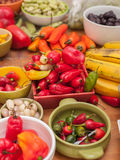 Assortment of Peruvian hot chili peppers Stock Photography