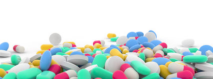 Assortment of pills Royalty Free Stock Photos