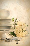 Assortment of plates for wedding Royalty Free Stock Image