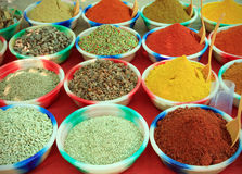 Assortment of powder spices Royalty Free Stock Photography