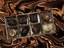 Assortment of pralines Royalty Free Stock Image