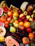 Assortment of produce. Bounty of fruits Stock Photos