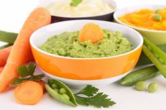 Assortment of puree Royalty Free Stock Photo