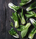 Assortment of raw bok choy Royalty Free Stock Photos