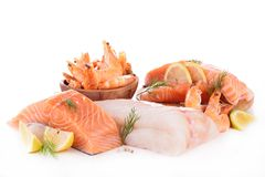 Assortment of raw fish Royalty Free Stock Photography