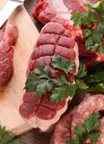 Assortment of raw meat Stock Images