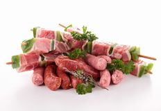 Assortment of raw meats Royalty Free Stock Photos