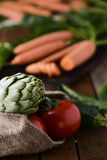 Assortment of raw vegetables Stock Photography