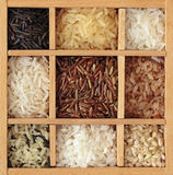 Assortment of rice Royalty Free Stock Photography