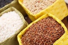 Assortment of rice Stock Photos