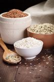 Assortment of rice. In bowl Royalty Free Stock Image