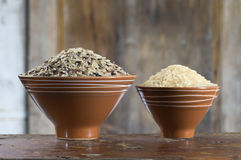Assortment of rice Stock Photography