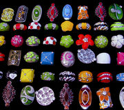 Assortment of rings Royalty Free Stock Photos