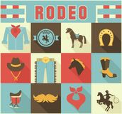 Assortment of Rodeo Themed Icons Royalty Free Stock Photography