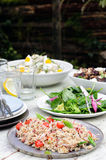 Assortment of salad sides for lunch party Royalty Free Stock Image