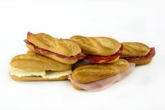 Assortment of sandwiches royalty free stock image