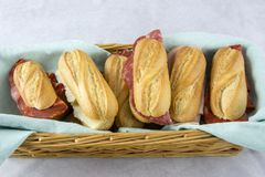 Assortment of sandwiches royalty free stock photos