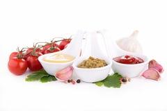 Assortment of sauce Stock Images