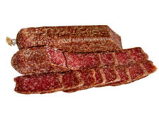 Assortment of Sausage. Sausage Meat Salame Slice Beef Food Pork FoodChorizoAssortment royalty free stock image