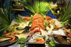 Assortment of seafood, Grecce, Crete Royalty Free Stock Photos