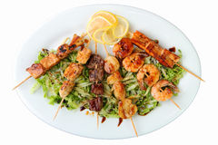 Assortment of shashlik Stock Photography