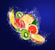 Assortment of sliced ​​tropical fruits Stock Photo