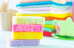 Assortment of soap Stock Photos