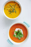 Assortment of soups Royalty Free Stock Images