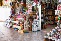 Assortment of souvenir shops Royalty Free Stock Photo