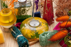 Assortment spa accessories Royalty Free Stock Photo