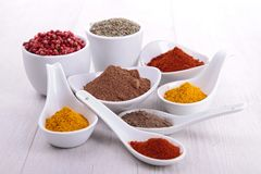 Assortment of spices Royalty Free Stock Photos