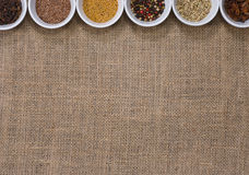 Assortment of Spices. Pepper, clove, aniseed and other Stock Image