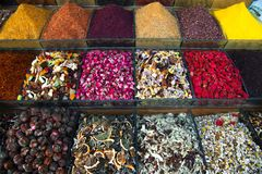 Assortment of spices and tea Stock Photography
