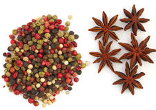 Assortment spices on white background Stock Photography