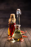 Assortment of spicy oils Stock Photo