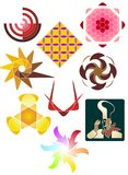 Assortment Of Spot Illustrations Stock Images