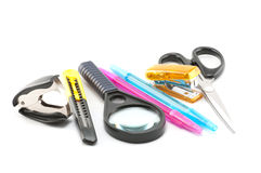 Assortment of stationery Stock Photos
