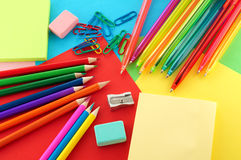 Assortment of stationery Royalty Free Stock Images