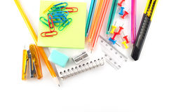 Assortment of stationery Royalty Free Stock Image