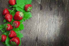 Assortment of strawberry fruits Royalty Free Stock Images