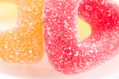 Assortment of sugared jellies. Closeup Royalty Free Stock Images